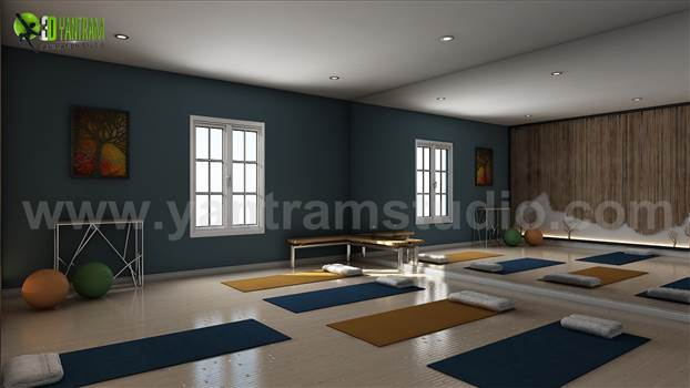 Yoga Room Design Ideas by Yantram interior design studio Boston, USA by yantramstudio