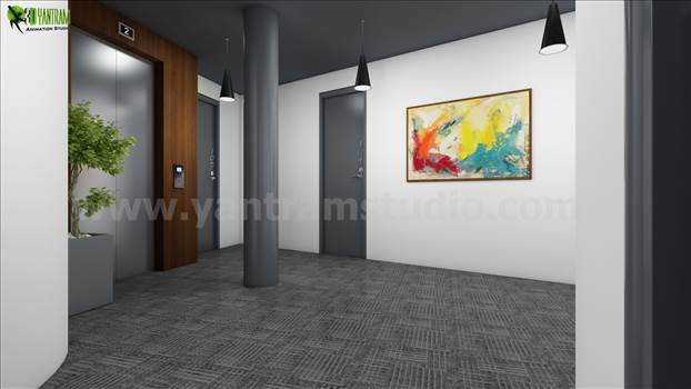 3D Interior Lobby Rendering Concept Idea by yantramstudio