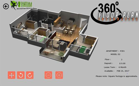 Virtual Reality Floor plan by yantramstudio
