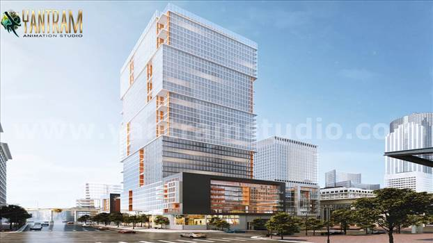 Project 857:- High-rise & latest Architecture 3D Exterior Building
