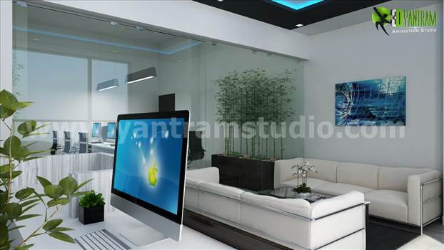 Office 3D Interior Rendering Unique Reception Area Design.jpg by yantramstudio