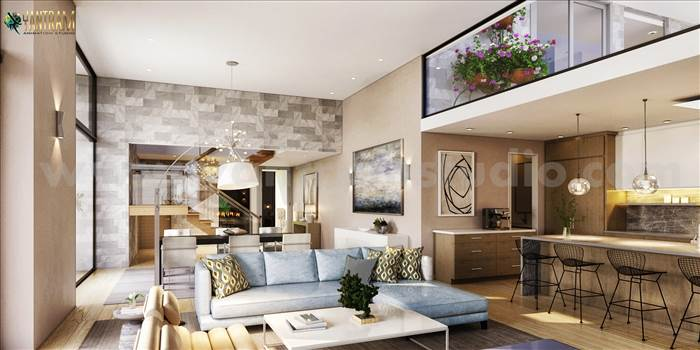 Modern & Innovative Residential living Area 3D Interior Modeling by Architectural Rendering Company, Moscow - Russia.jpg by yantramstudio