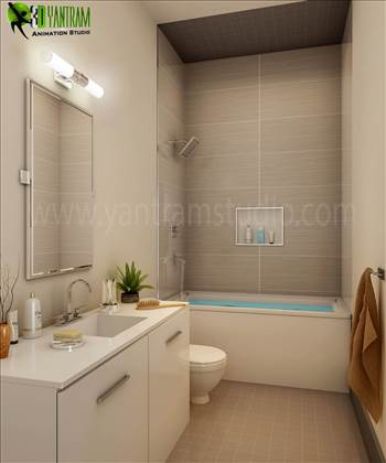 Bathroom Interior Design - Modern Common Bathroom Interior Design, Our Interior Design Studio has collection of elegant and modern interior design ideas for your property. We are expert in Architectural design studio, 3D Architectural Design, 3D Interior Design, Architectural Visua