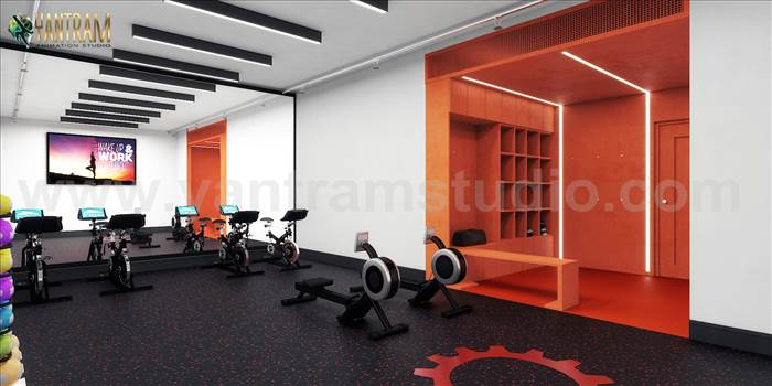 Project 847:- Commercial Fitness GYM 3D Interior Designers Ideas