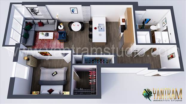 Project 185:- Residential 3D Virtual Floor Plan Design Concept