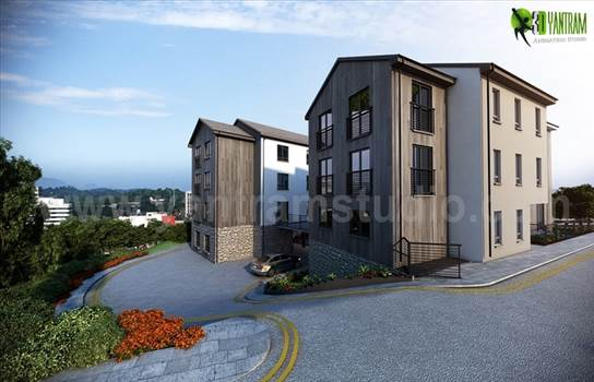 Example of Stunning House and Exterior Rendering Services by yantramstudio