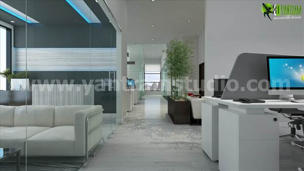Office 3D Interior Rendering Beautiful Lobby Design Ideas.jpg by yantramstudio