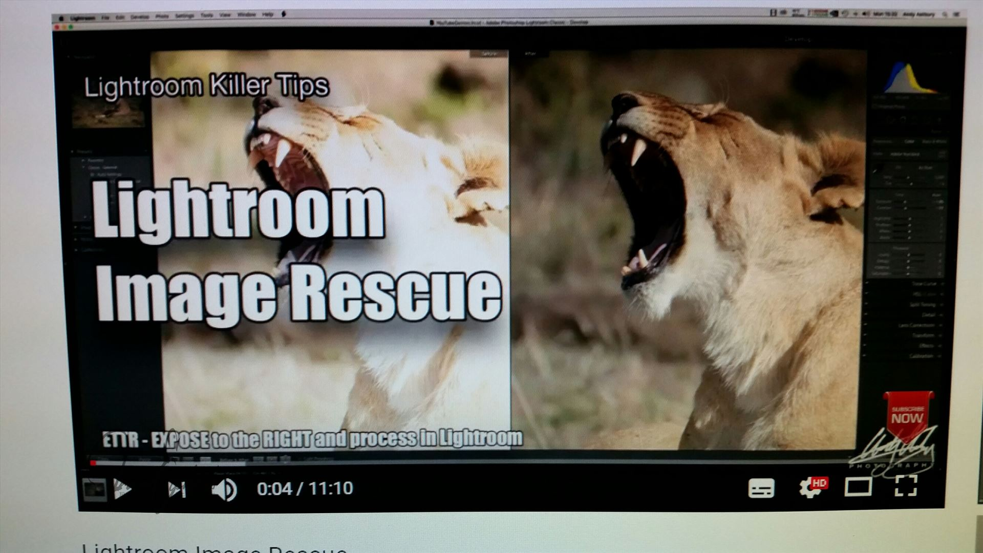"""Lightroom Image Rescue""... a quick & easy tutorial"