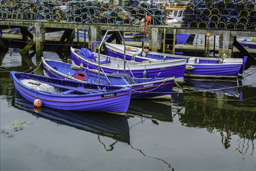 Four Tethered Boats by Frank Etchells Photography