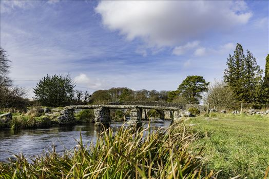 Postbridge Clapper Bridge 1 by Frank Etchells Photography
