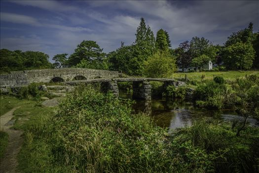 Postbridge Clapper Bridge 3 by Frank Etchells Photography