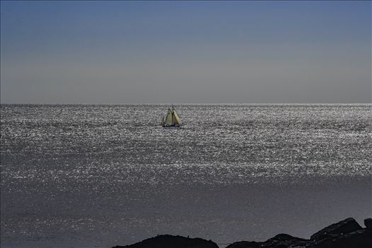 Hazy Days Sailing 2 by Frank Etchells Photography