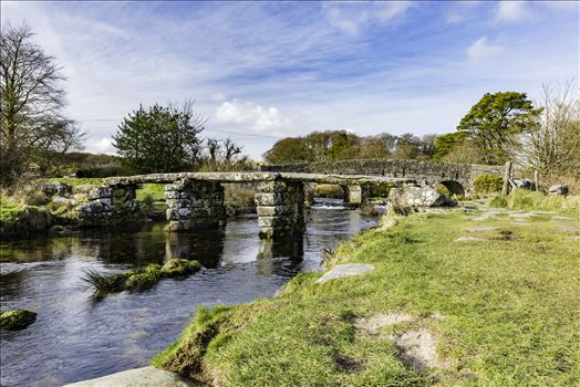 Postbridge Clapper Bridge 2 by Frank Etchells Photography