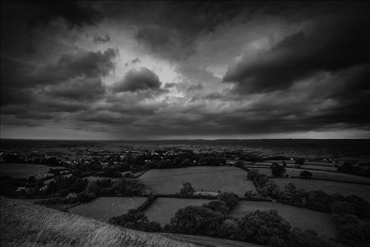 Approaching Storm Clouds BW by Frank Etchells Photography