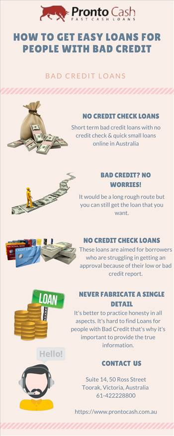 Loans for people with Bad Credit by ProntoCash