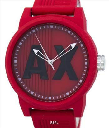 Armani Exchange ATLC Quartz AX1453 Men's Watch - Features:\r\n\r\nStainless Steel Case,\r\nSilicone Strap,\r\nQuartz Movement,\r\nMineral Crystal,\r\nRed Matte Dial,\r\nLuminous Hands And Markers,\r\nPull/Push Crown,\r\nBuckle Clasp,\r\n50M Water Resistance,\r\nApproximate Case Diameter: 46mm,\r\nApproximate Case Thickne