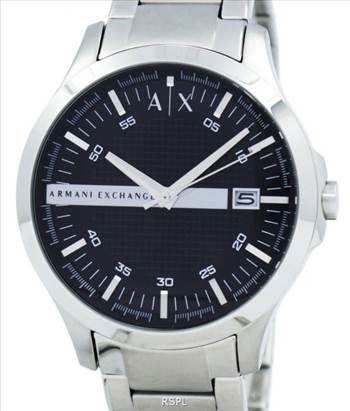 Armani Exchange Black Dial Stainless Steel AX2103 Mens Watch.jpg by creationwatches