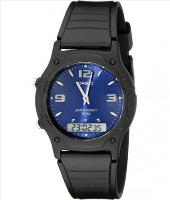 Casio Analog Digital Quartz Dual Time AW-49HE-2AVDF AW-49HE-2AV Mens Watch by creationwatches