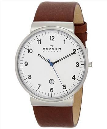 Skagen Ancher Brown Leather Strap SKW6082 Mens Watch.jpg by creationwatches
