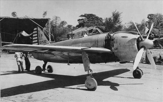 Kawanishi N1K-J Shiden (Violet Lightning), at Clark Airfield, Luzon, Philippines, 1945.jpg by viperchief