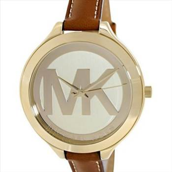 Michael Kors Runway Champagne Dial With MK Logo Womens Watch - Features:\r\nGold-Tone Stainless Steel Case,\r\nLeather Strap,\r\nQuartz Movement,\r\nMineral Crystal,\r\nChampagne Dial With Large MK Logo,\r\nAnalog Dial Type,\r\nFixed Gold-Tone Bezel,\r\nGold-Tone Hands,\r\nPull/Push Crown,\r\nBuckle Clasp,\r\n50M Water Resistance.
