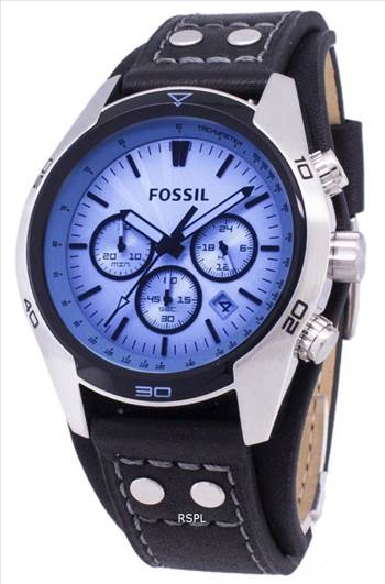 Fossil Coachman Chronograph Black Leather CH2564 Mens Watch.jpg -