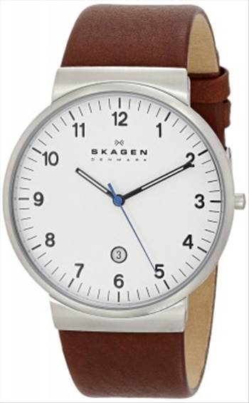 Skagen Ancher Brown Leather Strap SKW6082 Mens Watch.jpg -