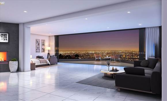 36.-Beautiful-City-Night-View-from-Bedroom-3D-Interior-Los-Angeles-CA-1160x700.jpg by ArchitectureVisualization