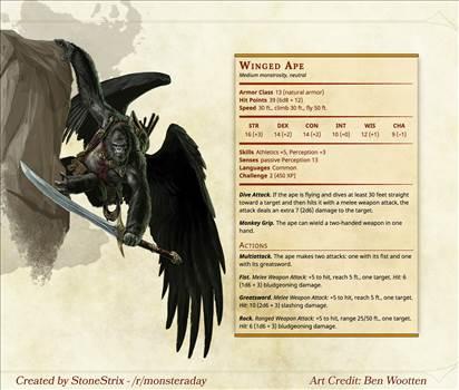 Winged Ape.jpg by eyebreaker7