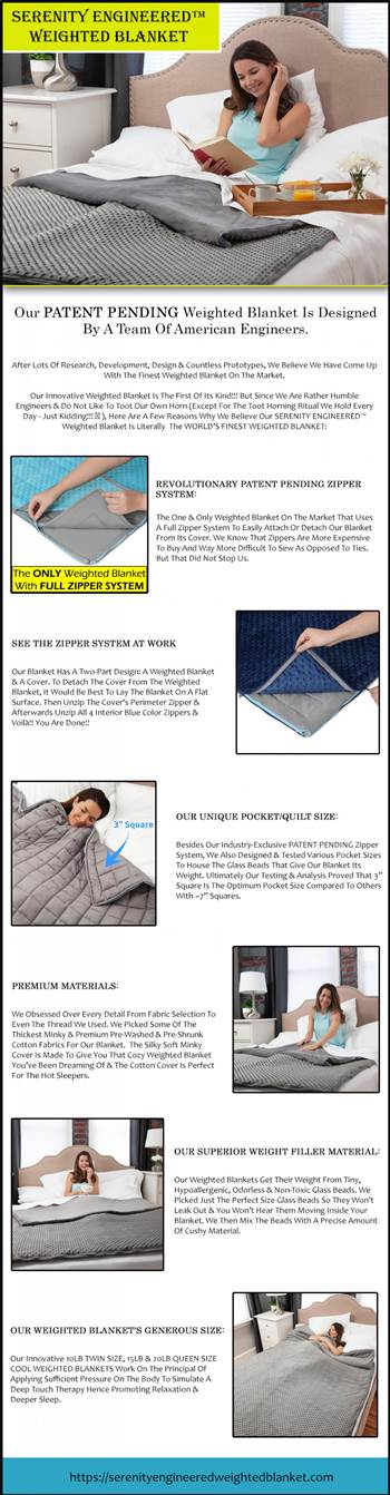 Our PATENT PENDING Weighted Blanket Is Designed By A Team Of American Engineers..jpg by serenityengineered