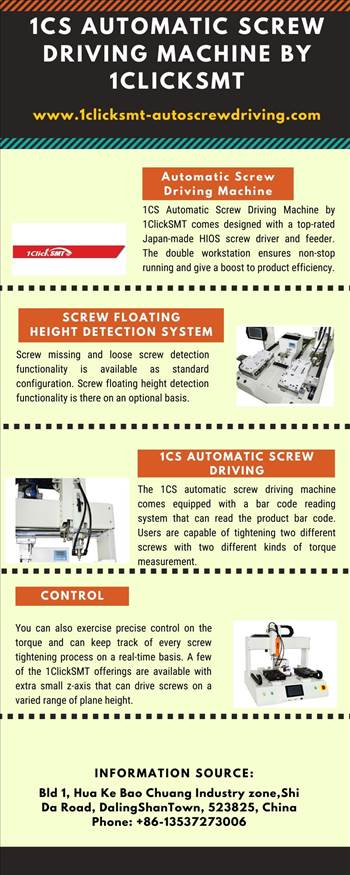 1CS Automatic Screw Driving Machine by 1ClickSMT.jpg by autoscrewdriving