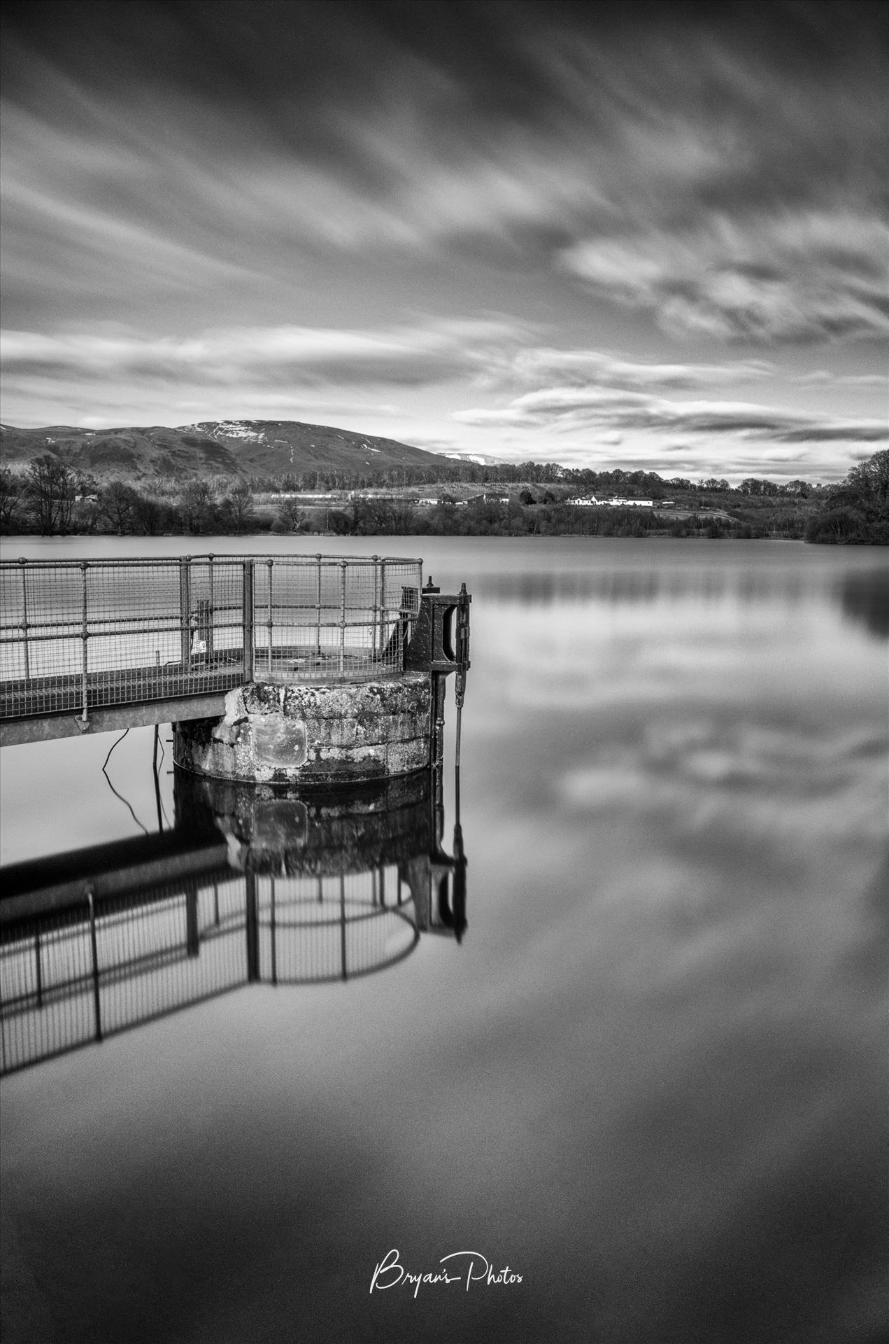 Gartmorn Dam A black and white long exposure photograph of Gartmorn Dam Clackmannanshire. by Bryans Photos