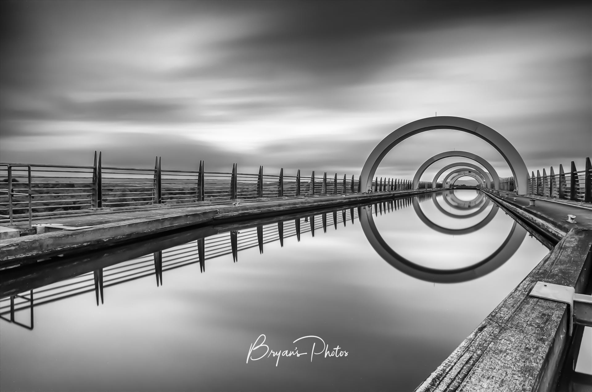 The Falkirk Wheel A long exposure photograph of the Falkirk wheel taken from the top of the wheel. by Bryans Photos