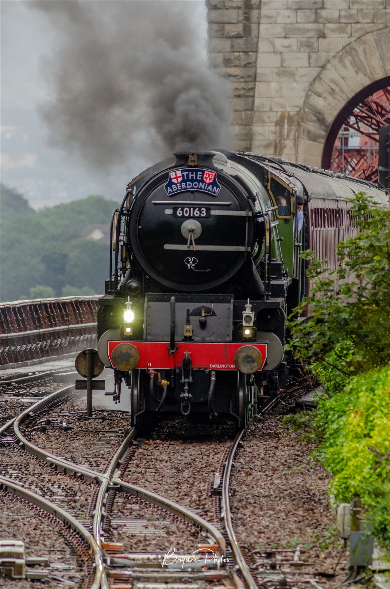 The Aberdonian A photograph of the Aberdonian steam train taken as it crossed the Forth Rail Bridge on its way to Aberdeen. by Bryans Photos