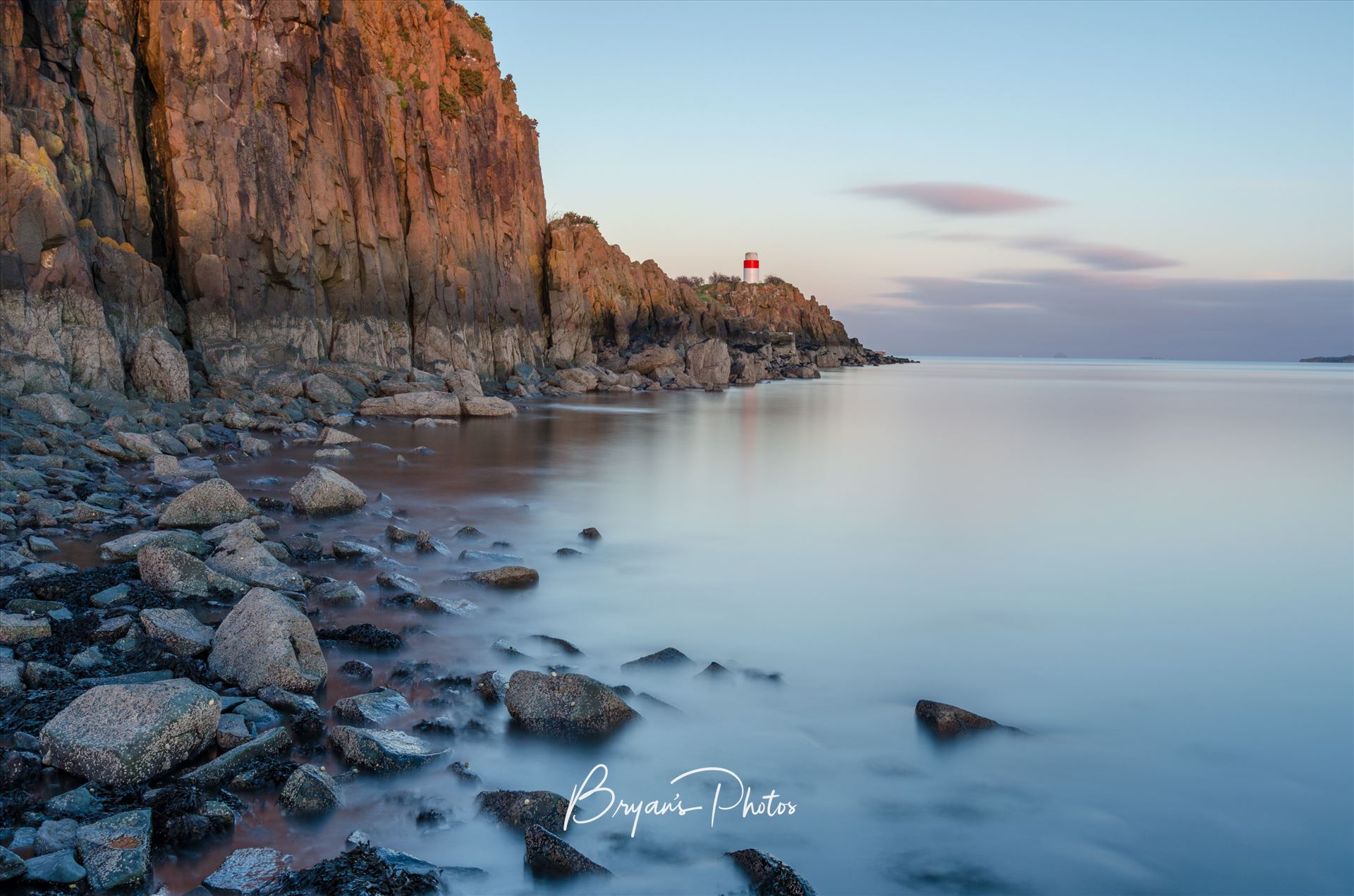 Evening at Hawkcraig A colour long exposure photograph taken at sunset of Hawkcraig point Aberdour. by Bryans Photos