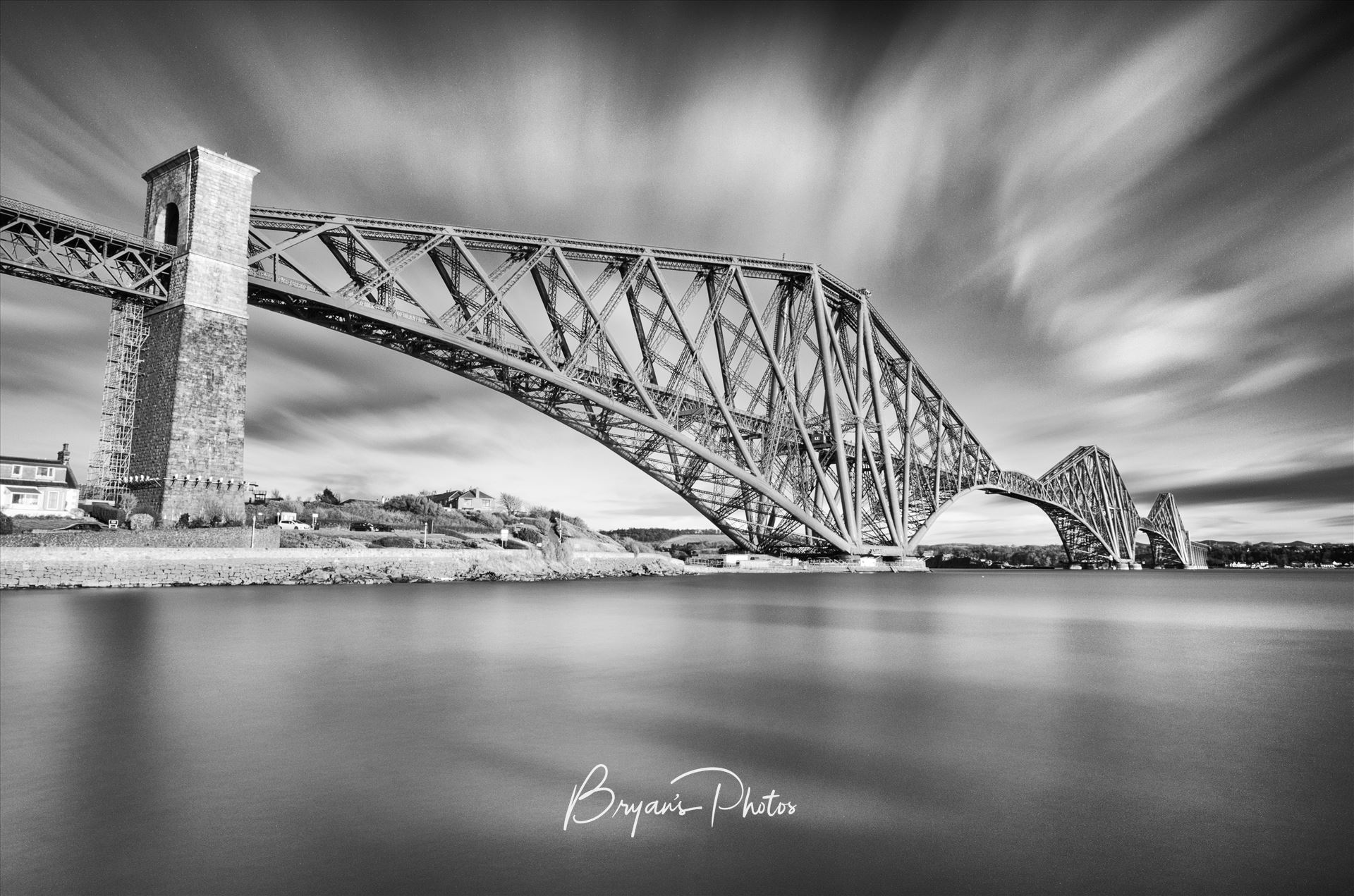 The Bridge A black and white long exposure photograph of the iconic Forth Rail Bridge taken from North Queensferry. by Bryans Photos