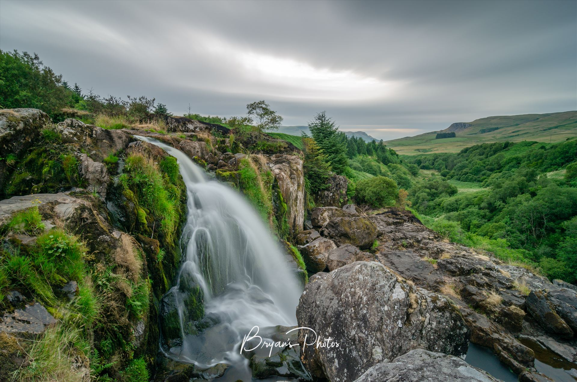 Fintry Falls A long exposure photograph of the Loup Of Fintry. by Bryans Photos