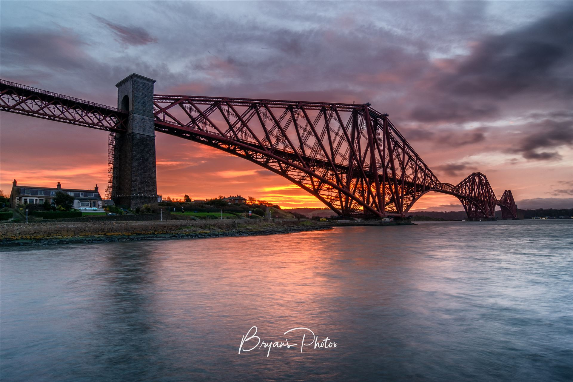 North Queensferry Sunrise A photograph of the Forth Rail Bridge taken at Sunrise from North Queensferry. by Bryans Photos