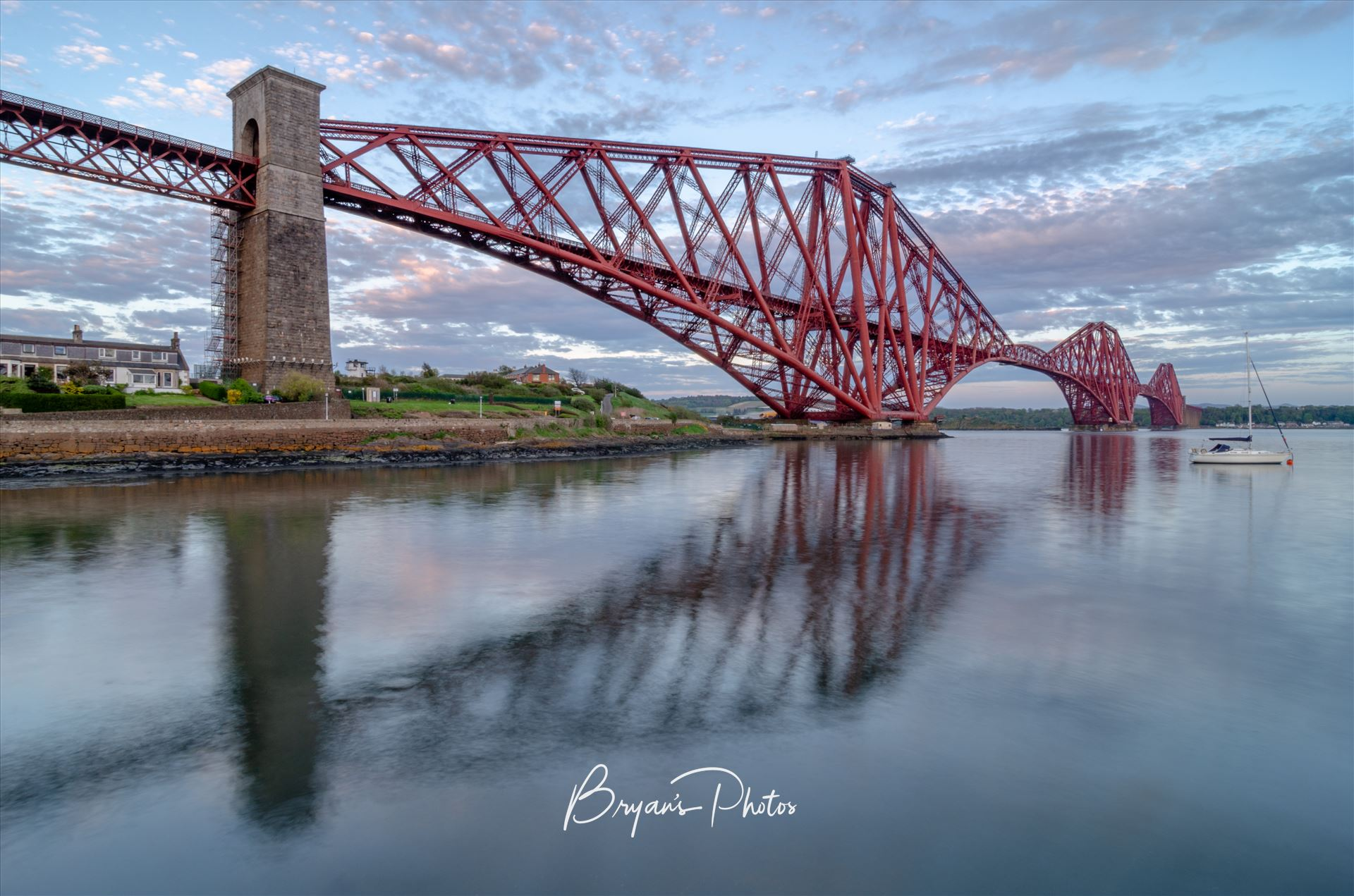 Rail Bridge Reflections A photograph of the Iconic Forth Rail Bridge taken on a calm summers evening from North Queensferry. by Bryans Photos