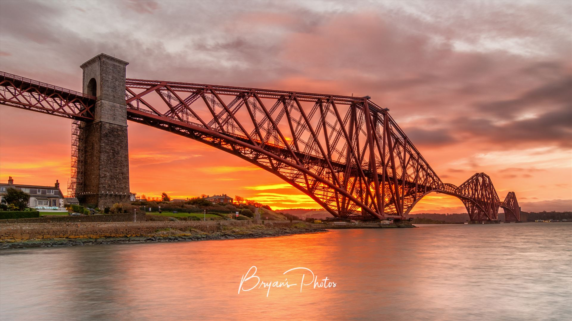 The Bridge at Sunrise A photograph of the Forth Rail Bridge taken at Sunrise from North Queensferry. by Bryans Photos