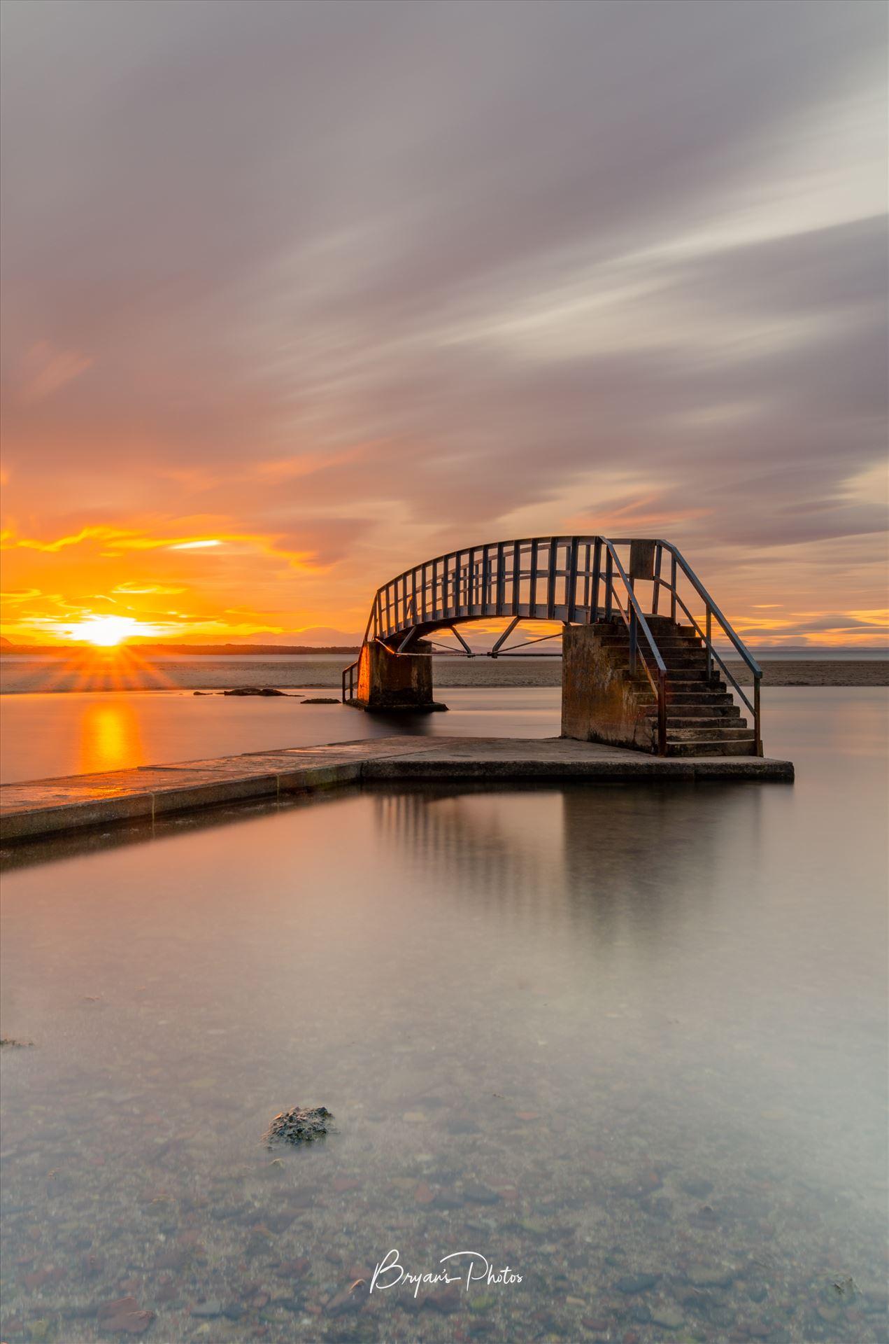 Belhaven Bridge A photograph of the Belhaven Bridge at Dunbar taken at sunset. by Bryans Photos