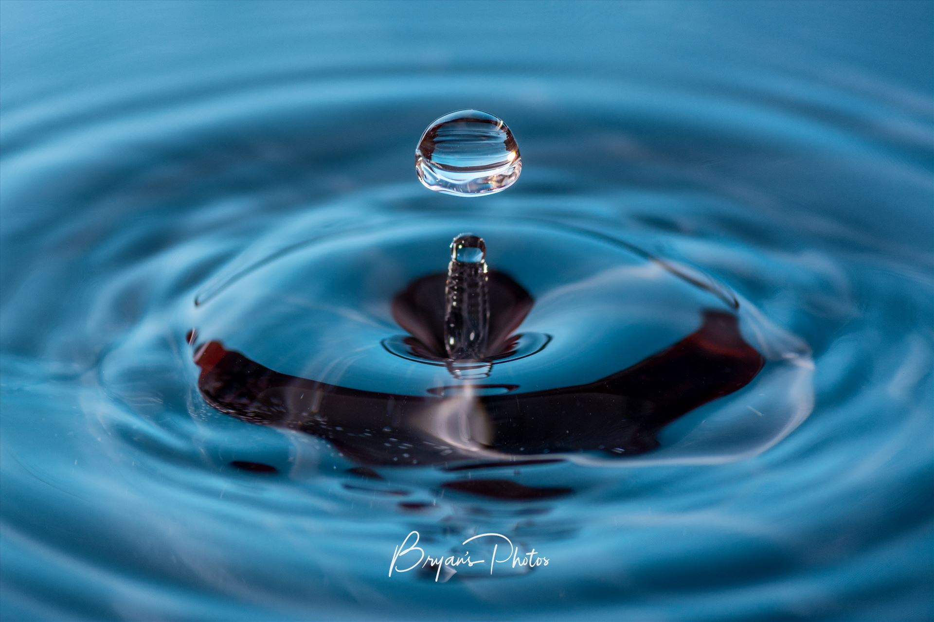 Water Drop Wall art of a water drop. by Bryans Photos
