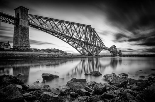 The Bridge Black and White by Bryans Photos