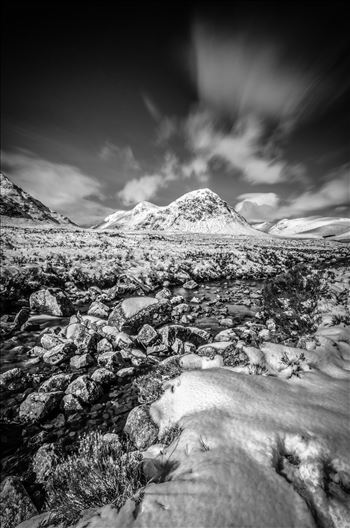 Bauchaille Etive Mor Portrait Black & White by Bryans Photos