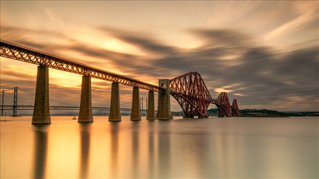 Rail Bridge at Sunset by Bryans Photos