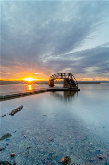 Belhaven Bridge Sunset by Bryans Photos