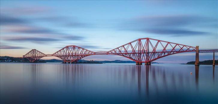Rail Bridge Panorama - A panoramic long exposure photograph of the Forth Rail Bridge taken from South Queensferry.