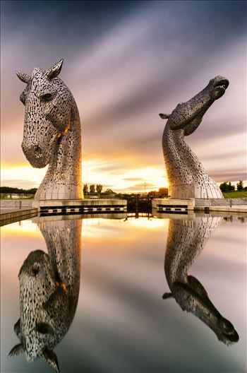 Kelpies Sunset by Bryans Photos