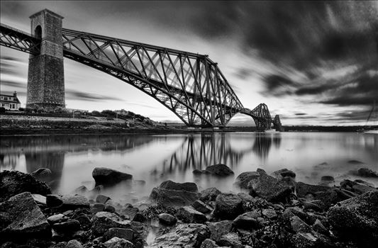The Rail Bridge Black & White by Bryans Photos