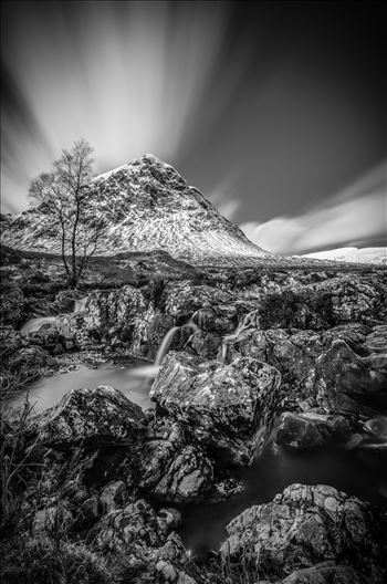 Etive Mor Black and White by Bryans Photos